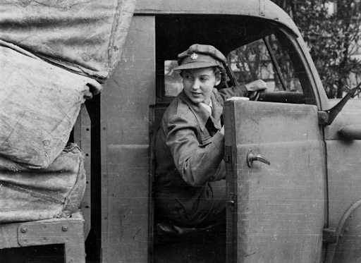 WW2 female truck driver