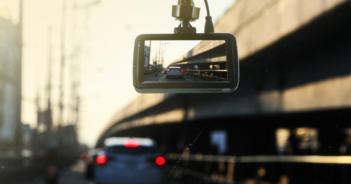 dash cam filming car