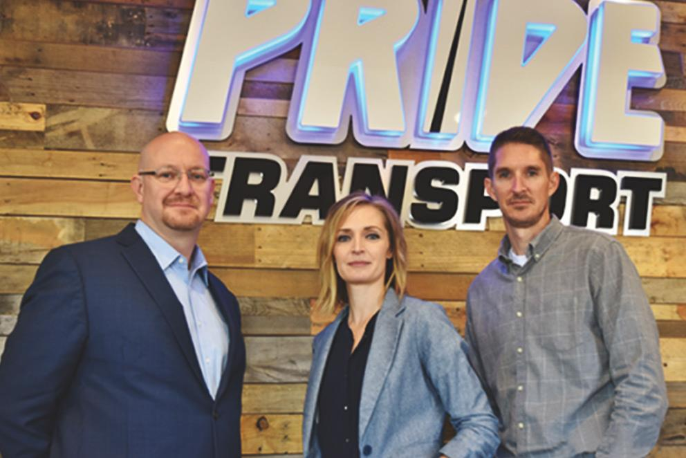 Pride Transport's leadership team